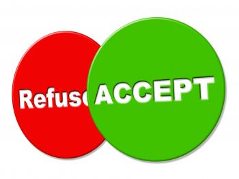 Allowed Sign Indicates Take On And Accept