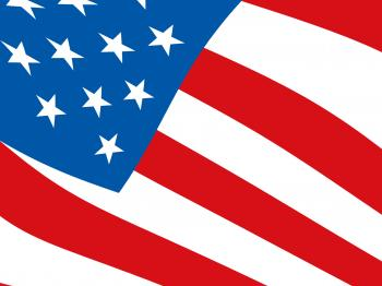 American Flag Background Shows National Independence And Patriotism