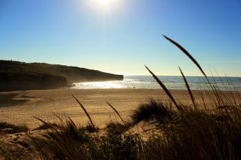Amoreira Beach in Algarve, Portugal