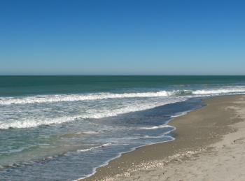 An ocean landscape