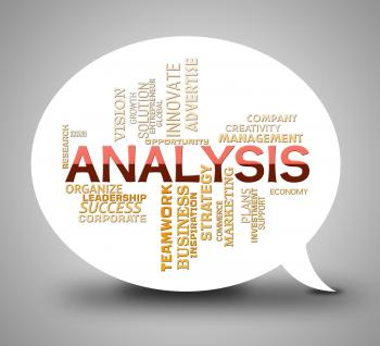 Analysis Bubble Means Data Analytics And Analyse