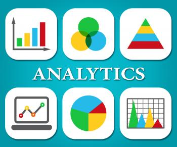Analytics Charts Represents Business Graph And Statistics