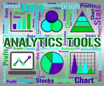 Analytics Tools Represents Business Graph And App