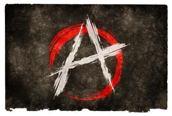 Anarchy Grunge Flag
