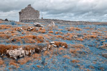 Ancient Chapel Ruins - Nuclear Winter HDR