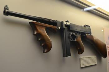 Ancient gun of the beginning of the last century in the museum