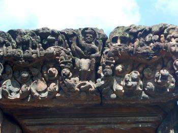 Ancient Hindu temple carvings