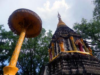 Ancient Thai Buddhist pagoda