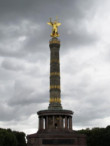 Angel Statue Under Gray Clouds during Daytime