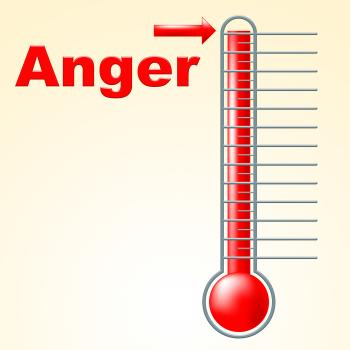 Anger Thermometer Indicates Cross Irritated And Temperature