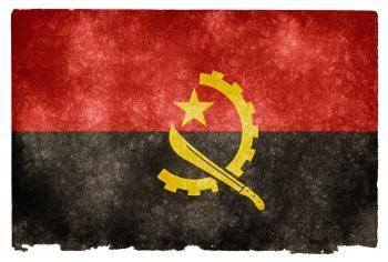 Angola Grunge Flag