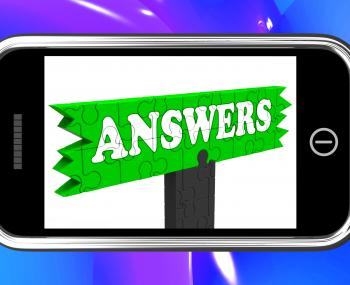 Answers Sign On Smartphone Shows Support