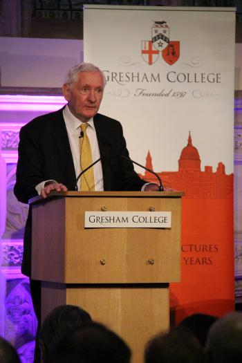 Anthony Arlidge QC delivering a Gresham College lecture
