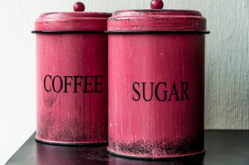 Antique coffee and sugar Canisters