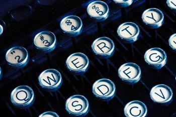 Antique Typewriter Close-up
