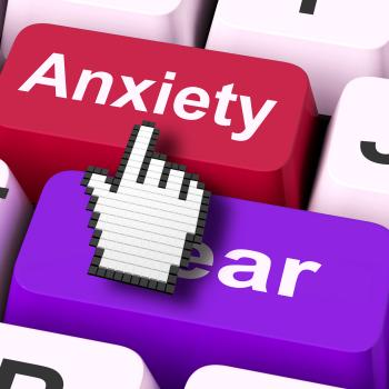 Anxiety Fear Keys Mouse Means Anxious And Afraid