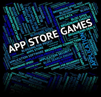 App Store Games Means Retail Sales And Applications