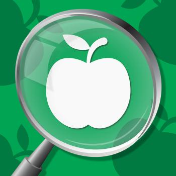 Apple Magnifier Means Diet Organic And Searches