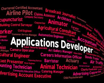 Applications Developer Shows Program Career And Softwares
