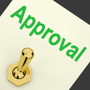 Approval Switch Shows Approved Passed or Verified