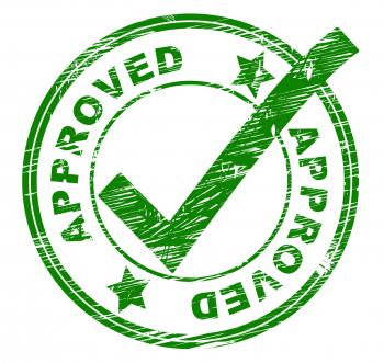 Approved Stamp Indicates All Right And OK