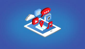 Apps on Tablet - Isometric Design