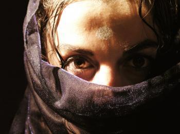 Arab woman with veil