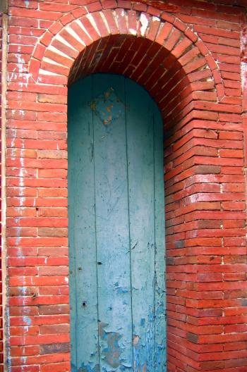 Arched Doorway Made from Bricks