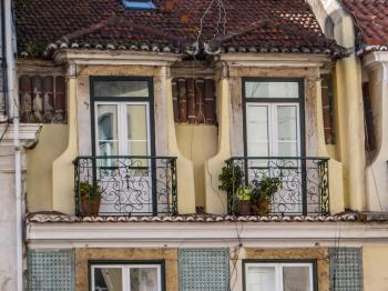 Architecture of Lisbon- balcony