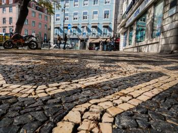 Architecture of Lisbon- pavement