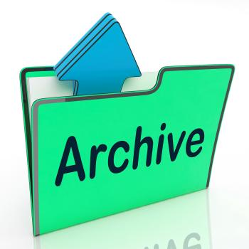 Archive File Means Cloud Storage And Network