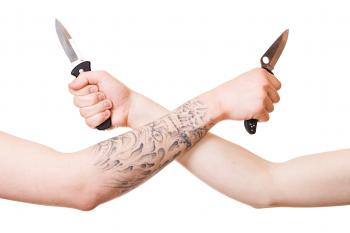 Arms with knives