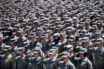 Army Saluting