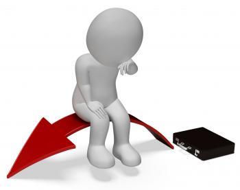 Arrow Businessman Represents Lack Of Success And Anguish 3d Rendering