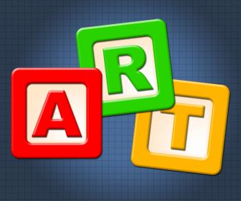 Art Kids Blocks Represents Painting Craft And Toddlers