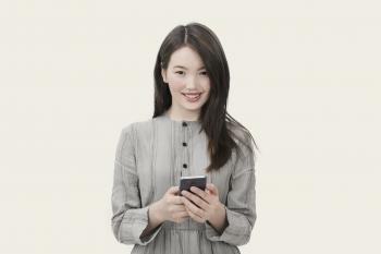Asian girl with a phone
