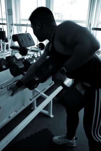 Asian man at the gym