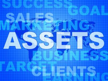 Assets Words Shows Wealth Valuables And Goods