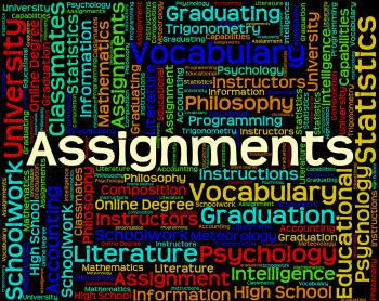 Assignments Word Represents Exercise Tasks And Undertaking