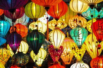 Assorted Color of Paper Lanterns
