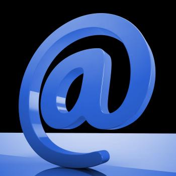 At Sign Mean Email Correspondence on Web