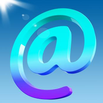 At Sign Shows Email Correspondence on Web