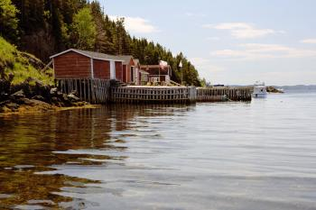 Atlantic Canada fishing stage