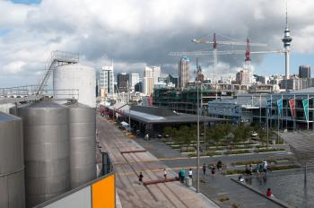 Auckland skyline from Silo Park
