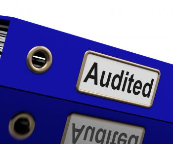 Audited Audit Indicates Auditor Verification And Binder