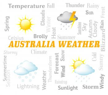 Australia Weather Indicates Meteorological Conditions And Forecast