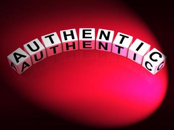 Authentic Dice Show Certified and Verified Authenticity