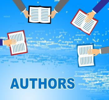 Authors Books Represents Creative Writing And Narration