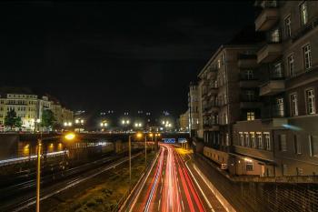 Autobahn Berlin at Night