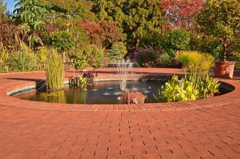 Autumn Arboretum Fountain - HDR